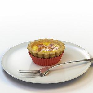 3d model egg tart