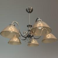 ceiling chandelier 3d c4d