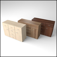 3d veneered commode