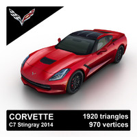 3d max 2014 corvette stingray c7