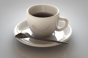 3d ceramic espresso cup model