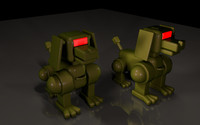 cinema4d dog robo