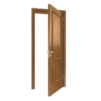 3d model wood wooden door