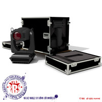 flight case heads spot light obj