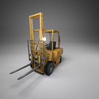 3d forklift realistic model
