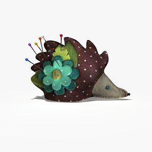 c4d hedgehog pin cushion