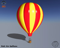 3ds realistic hot air balloon