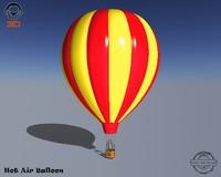 3ds realistic hot air balloon