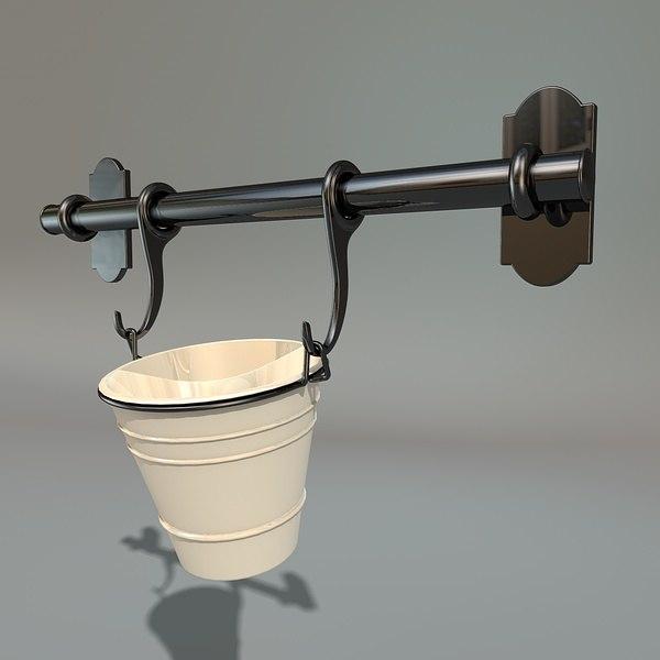 kitchen metal bucket c4d