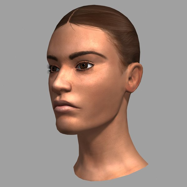 3ds max female head