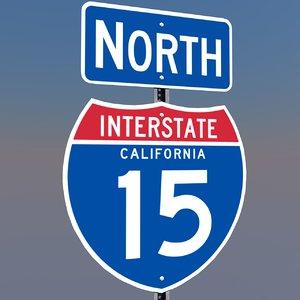 interstate 15 signs california 3d c4d