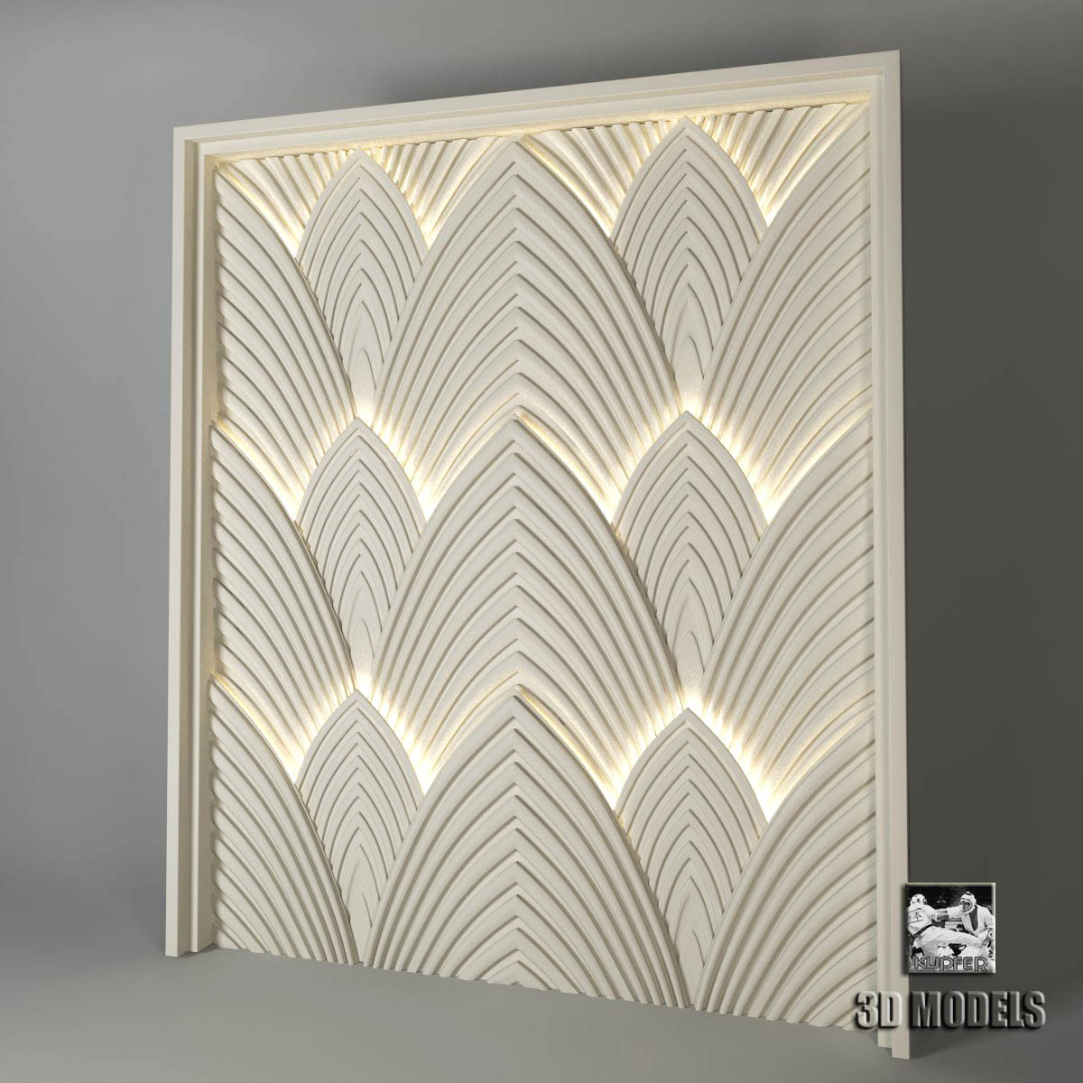 Art deco panels for 3d decoration models