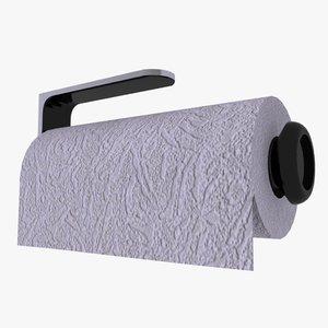 3d kitchen paper towel holder model