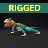 collar lizard 3d model