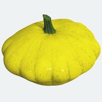 3d model small pumpkin