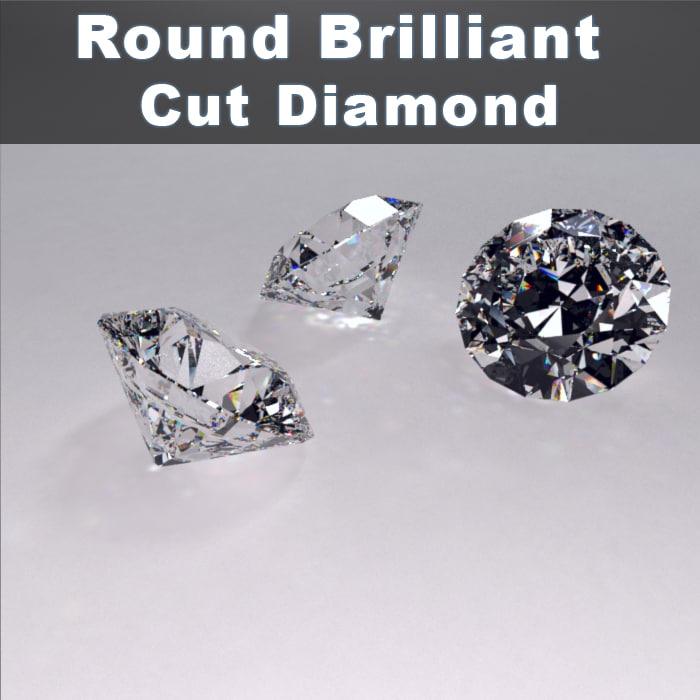 materials diamonds 3d model