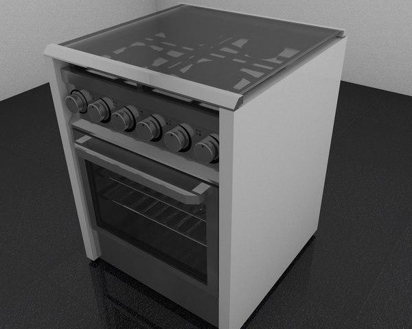 3ds max stove interior design