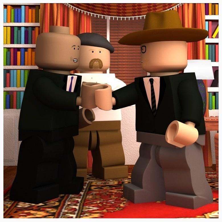 lego mythbusters 3d obj