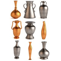 3d antique vases model