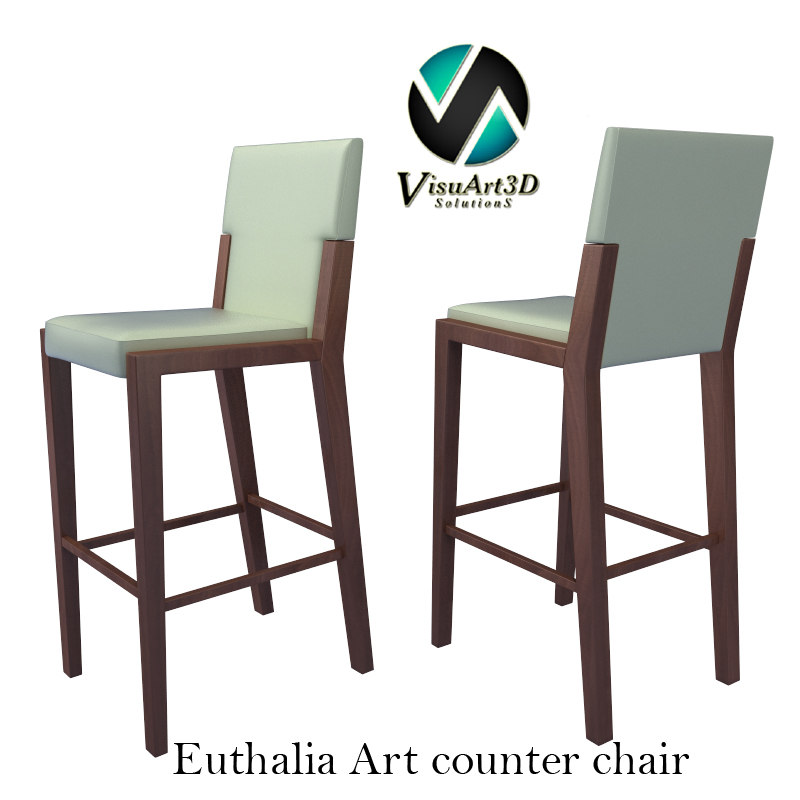 3dsmax bar chair euthalia