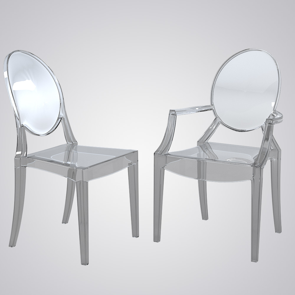 Kartell Ghost Dining Chair Set
