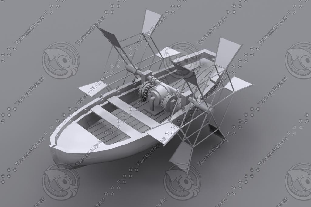 leonardo da vinci boat max