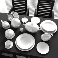 set 6 decorate kitchen 3d model