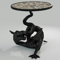 3d model russian table dragon