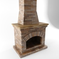 fireplace chimney 3d max