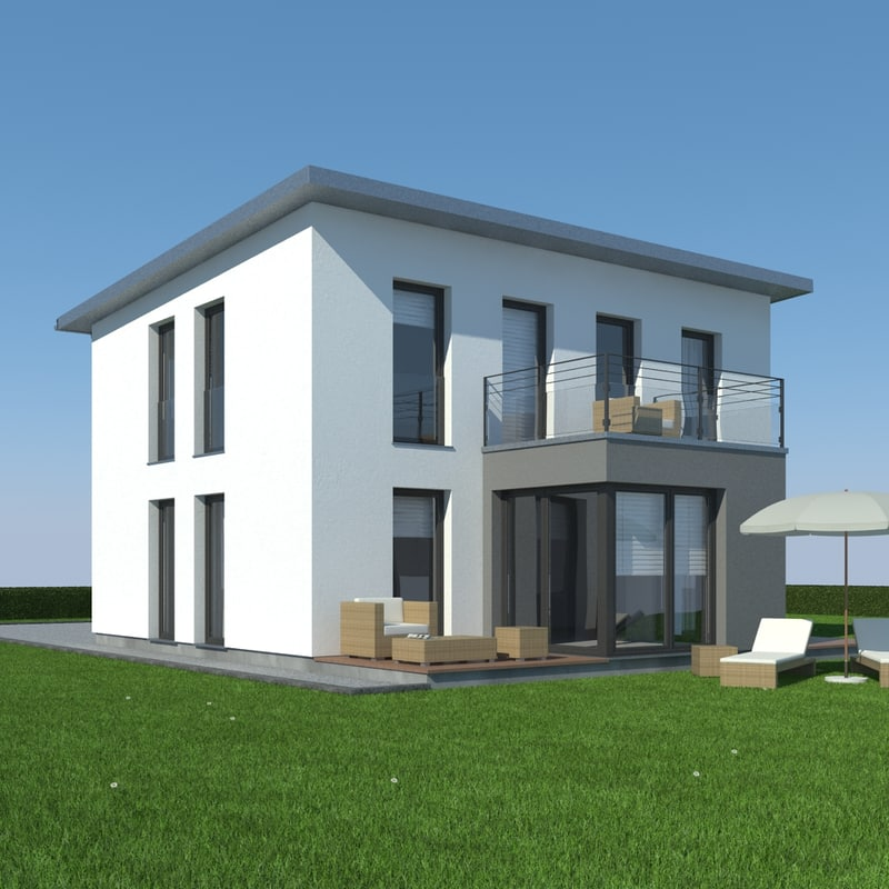 3ds max house grass modelled