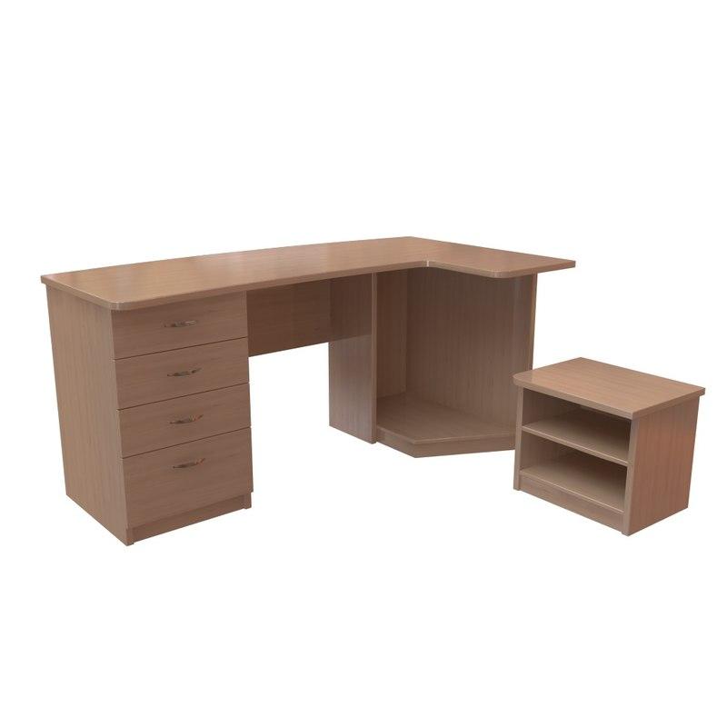 computer desk 3d max