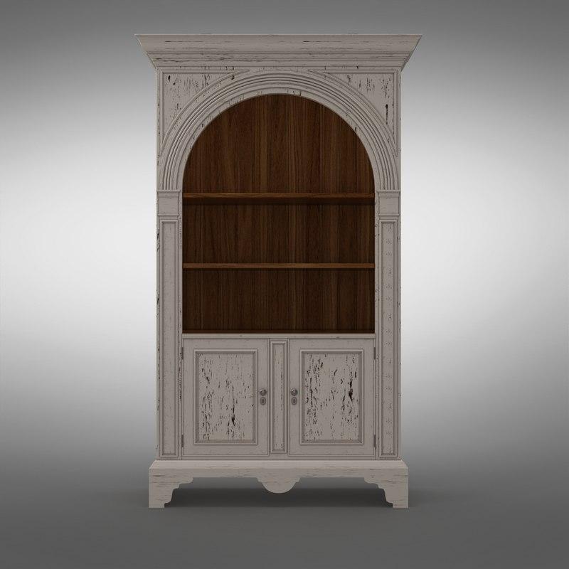 mr-3096 palladian bookcase 3d model