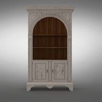 mr-3096 palladian bookcase 3d model