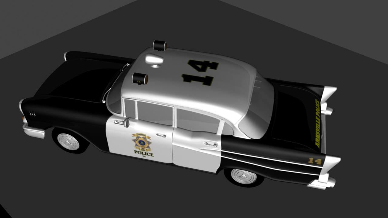 3d 1957 police car