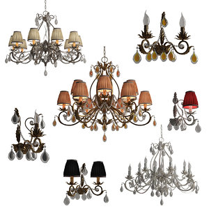 3d chandeliers stillux gli ori