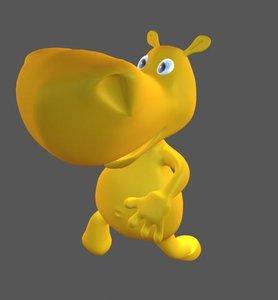 3ds max dance hippo