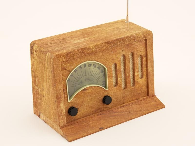 radio 3d max