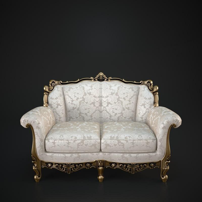 3d cechov sofa model