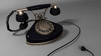Black Retro Telephone