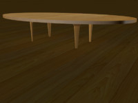 realistic table 3d model