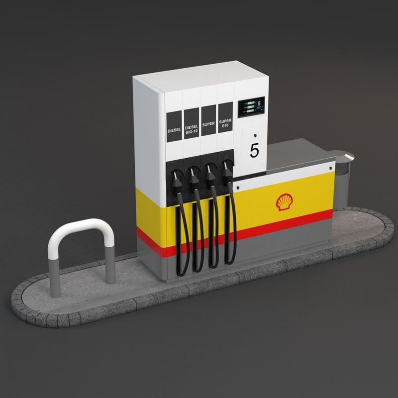 3d gas pump shell