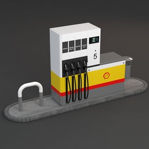 3d gas pump shell