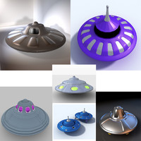 spaceships flying saucer alien 3d 3ds