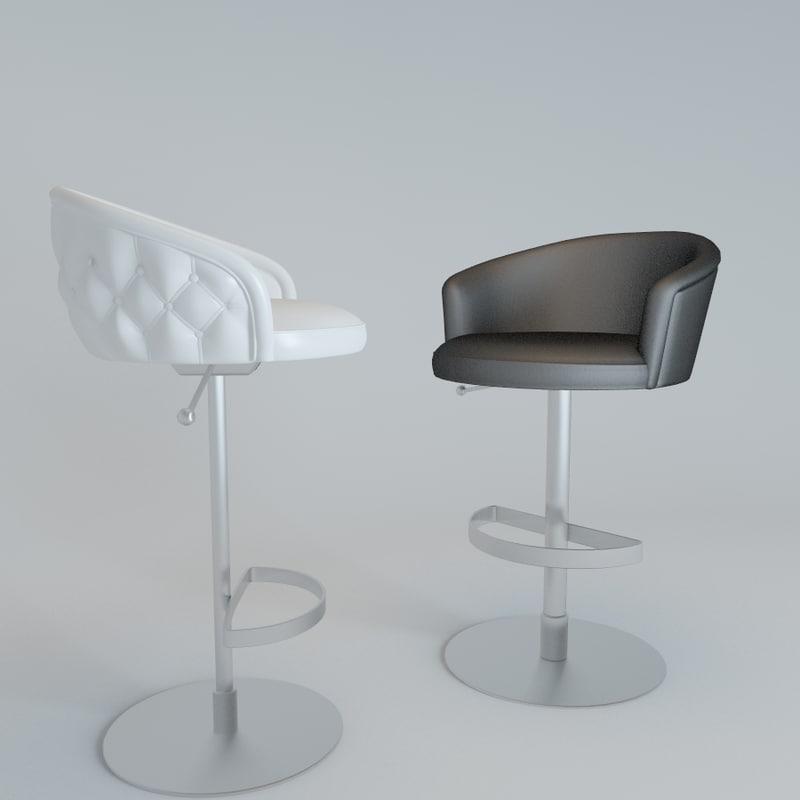 bar stool bibendum 3d model