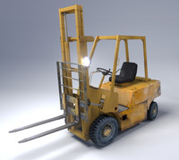 forklift realistic 3d 3ds