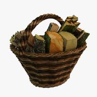 3d model basket modeled realistic
