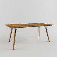 tables wood steel 3d model