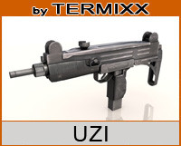 3d weapon uzi model