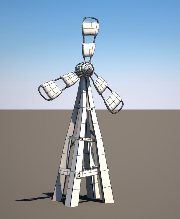 3d windmill model