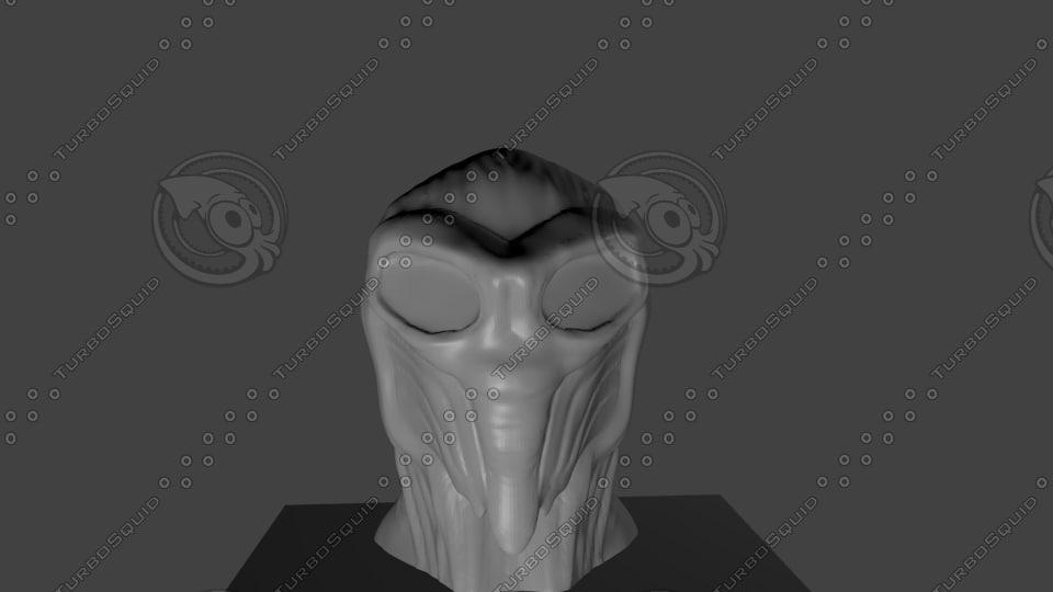 sculpture head 3d model